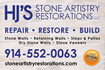 Stone Artistry Restorations Job Site sign