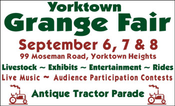 Yorktown Grange Fair event board sign